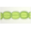 Glass Cut Bead Flat Oval 14/12 Strung-olivine